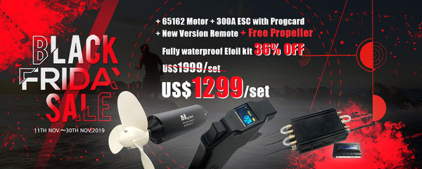 【Black Friday Sale】Maytech Fully Waterproof Efoil Kits with MTI65162 Motor + 300A ESC + 1905WF Remote + Progcard