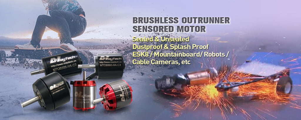 Electric skateboard mountainboard brushless outrunner sensored sealed cover unsealed open cover DIY motorized skateboard Esk8 eskate elongboard 6355 6365 6374 6880 8085 powerful outrunner motor engine
