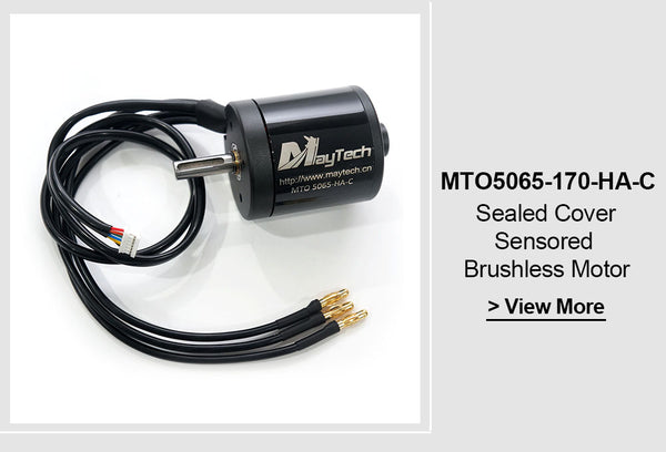Maytech Brushless 5065 70/170/220KV Closed Cover Sensored IP54 Waterproof Motor For Esk8/E-scooter