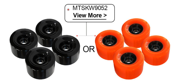 Maytech MTSKW9052 90x52mm Wheels with NSK 608ZZ Ball Bearing Black Orange Color for Elongboard Skateboard Robots