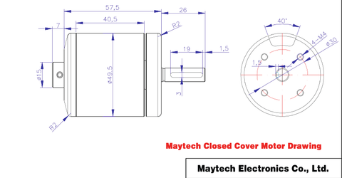 Maytech 5065 black sealed cover motor
