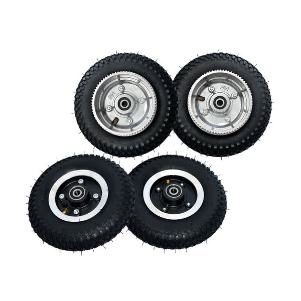 Maytech MTMSKW08FBK 8 inch Front and Rear Wheels for Electric Mountainboard with 72T Wheel Pulley
