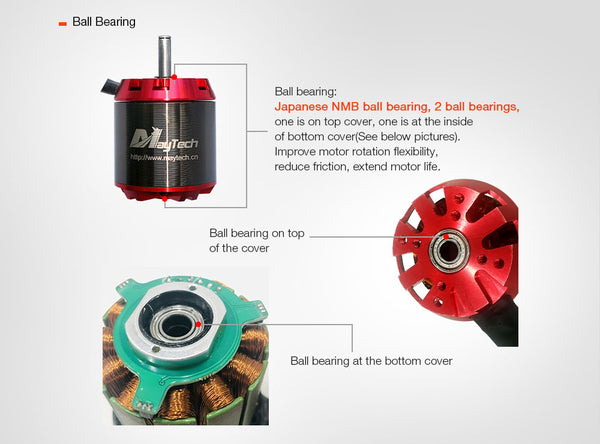 Maytech open cover 5055 70KV 200KV 250KV brushless outrunner motor for electric skateboard mountainboard longboard all terrain offroad skateboard fighting robots combat robots robotics delivery robots walking robots parking system electric vehicles