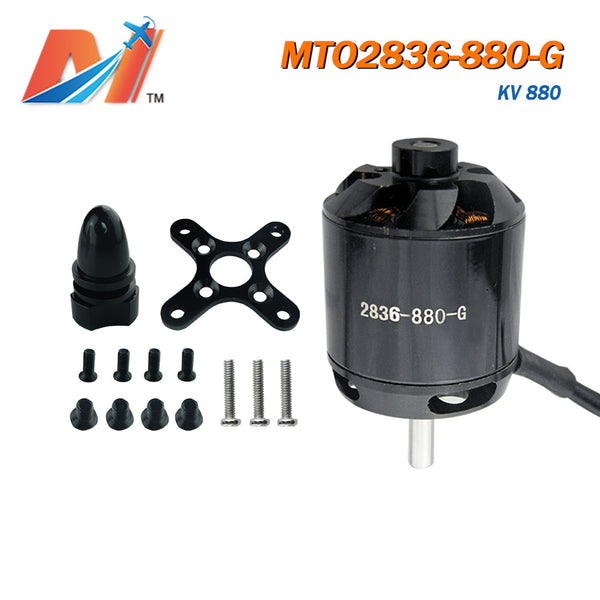 Maytech 2836 brushless motor 880kv with prop adaptor, screw and other accessories, motor for rc airplane, rc helicopter, racing plane