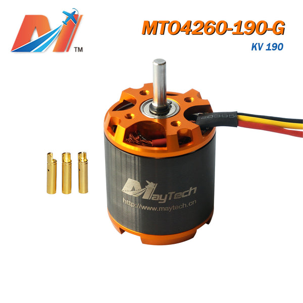 Maytech gold cover black case motor for rc airplane racing helicopter brushless outrunner engine high power