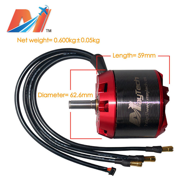 maytech mto6355-170-ha red cover brushless hall sensored dc motor for electric skateboard mountainboard longboard