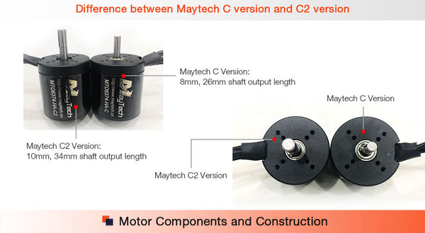 Maytech brushless outrunner sensored sealed cover motor for electric skateboard mountainboard longboard all terrain offroad skateboard fighting robots combat robots robotics delivery robots walking robots parking system electric vehicles