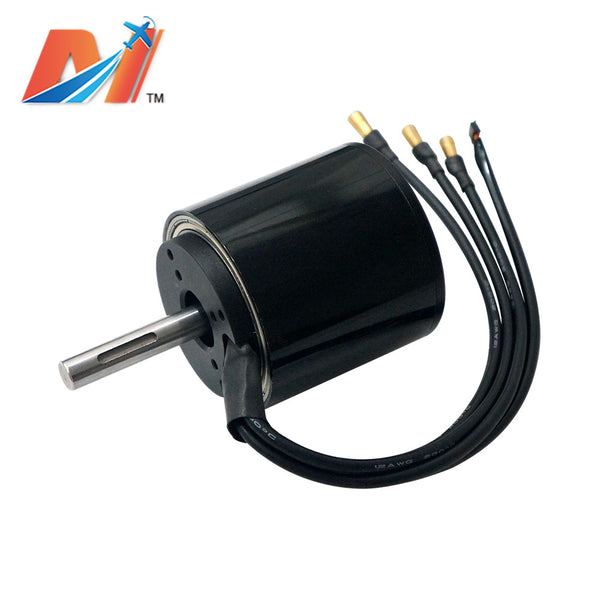 Maytech black sealed cover 10mm shaft brushless dc motor for electrical brushless motor sensored high power high efficiency for fire fighting robots, mountainboard all terrain offroad boards
