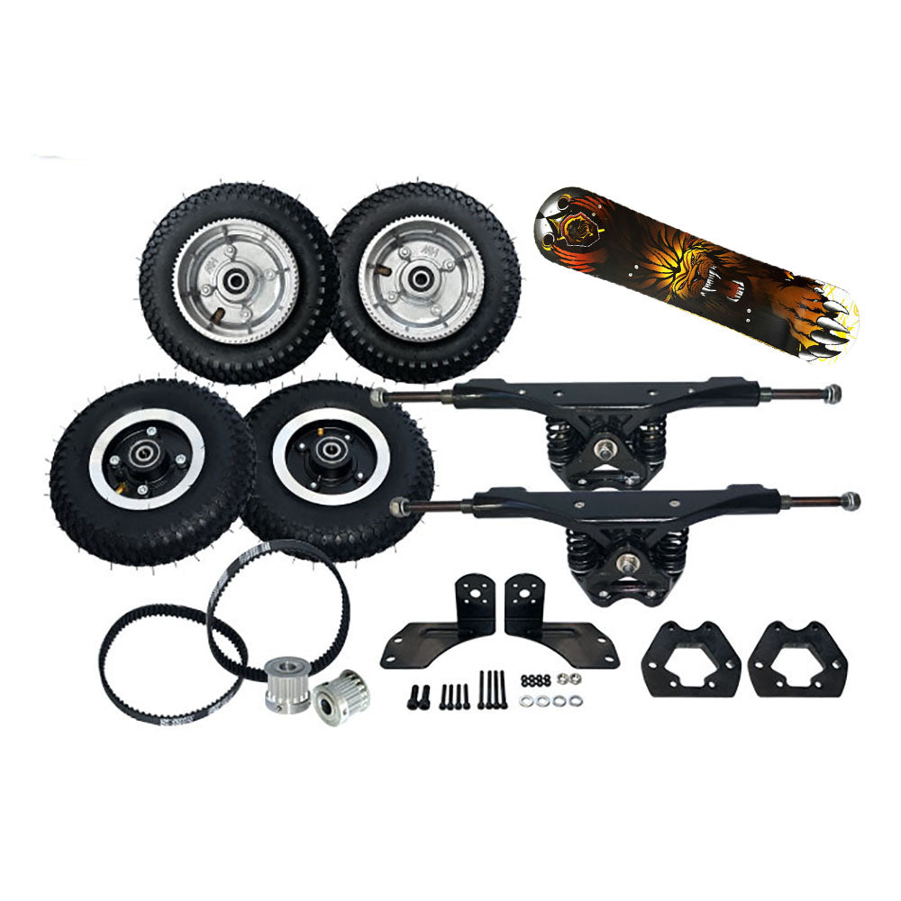【 20% OFF】Maytech Electric Mountainboard Kit with Truck+Wheel+Deck+Motor Pulley+belt