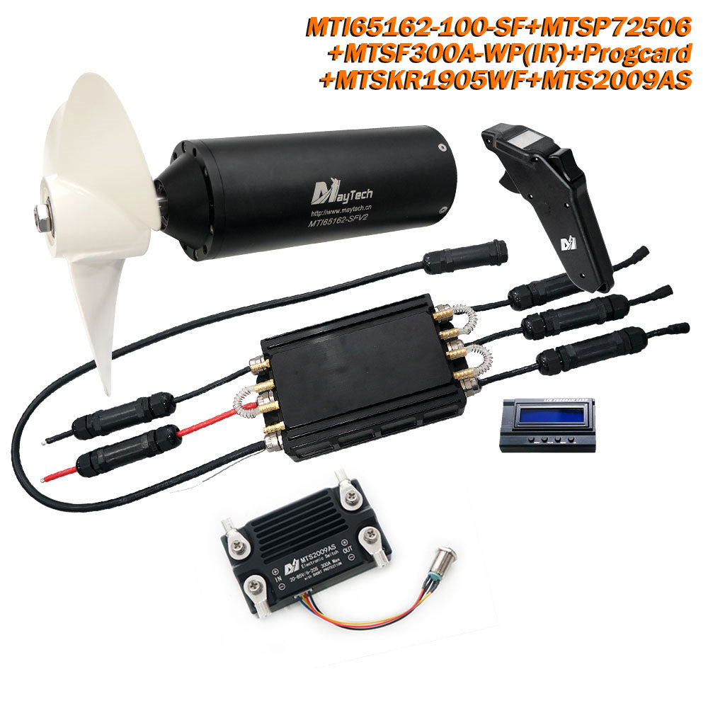 【In Stock No Price Increase】Maytech Fully Waterproof Efoil Kits with MTI65162 Motor + 300A ESC + 1905WF Remote + Progcard