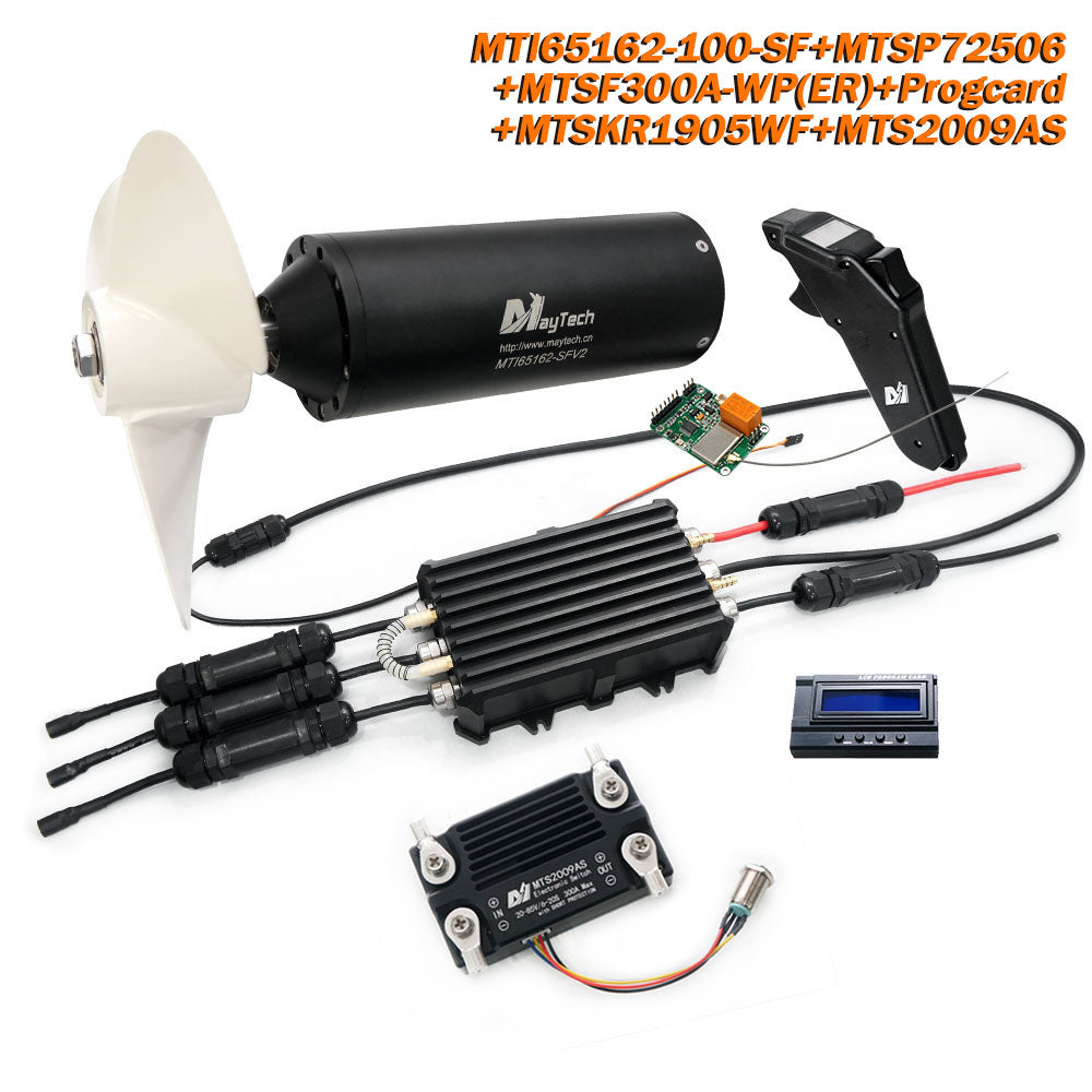Maytech Fully Waterproof Efoil Kits with MTI65162 Motor + 300A ESC + 1905WF Remote + Progcard