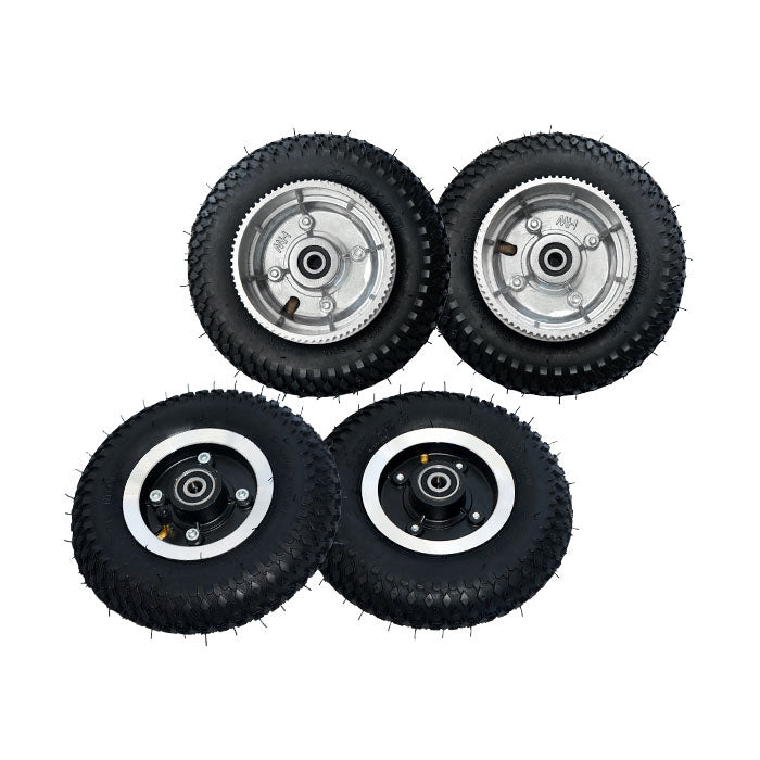 【20% OFF】Maytech MTMSKW08FBK 8 inch Front and Rear Wheels for Electric Mountainboard with 72T Wheel Pulley