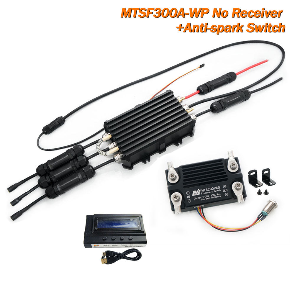 Maytech MTSF300A-WP IP68 Waterproof 300A ESC 300A 85V Anti-spark Switch Water Pump Esurf Kit Speed Controller for Efoil/RC Boat