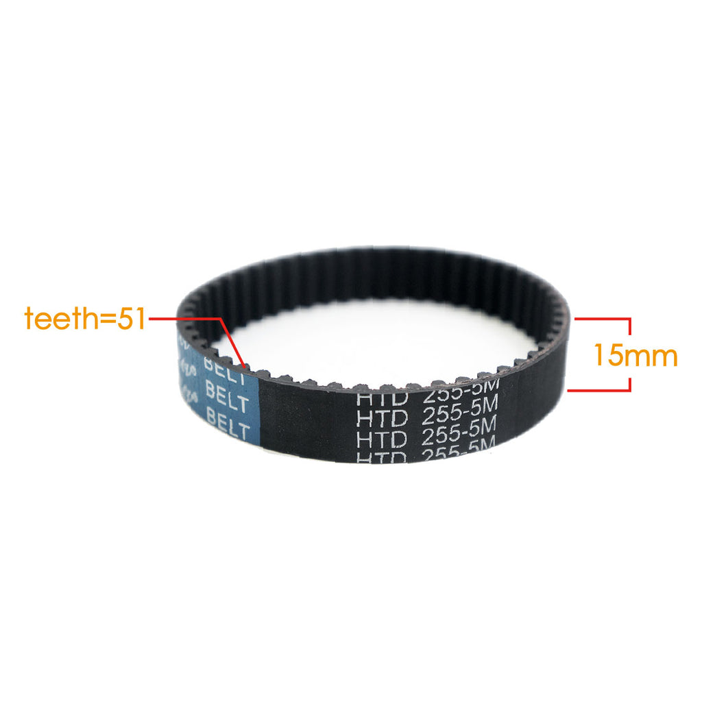 Maytech MTSKB2005 Belt 51 Teeth 5M Pitch HTD255 15mm Width Belt for Electric Skateboard Reduction for Electric Skateboard Elongboard