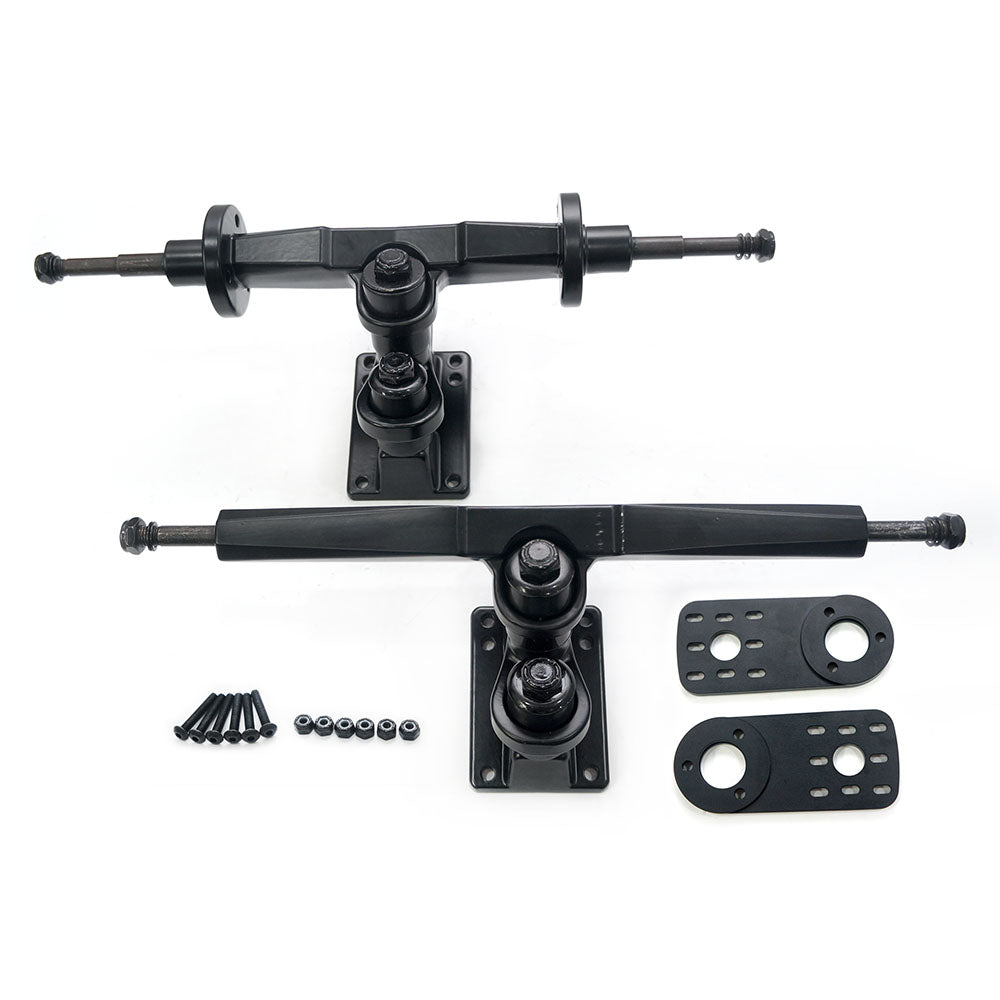 Maytech MTSKT310DB 310mm New Truck Set with Motor Mount for Dual Belt-driven Skateboard Elongboard Truck Front and Rear Truck