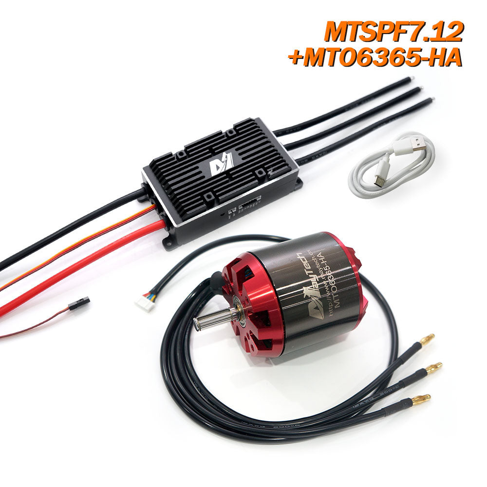 Maytech V2 200A VESC6.0 based Speed Controller Comb with Brushless Outrunner Sensored Motor 6355/6365/6374 Electric Skateboard Kit