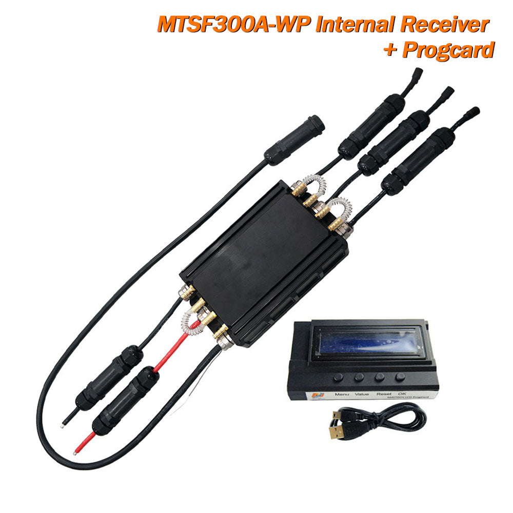 Maytech Fully Waterproof 300 ESC with Water Cooling Internal UBEC With Receiver Speed Controller for Esurf/RC Boat