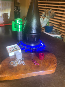 Faceted Source Orb Versa Ruby And Frosted Sapphire insert! - Mr. Bonsai's Vape Accessories