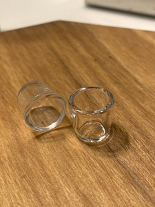 Assorted Quartz Peak Inserts- opaque/opaque bottom/clear - Mr. Bonsai's Vape Accessories