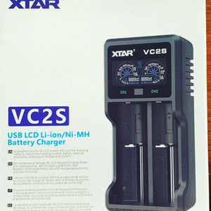XTAR VC2S 2-bay battery charger - Mr. Bonsai