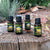Anxiety Support Essential Oil Collection includes 15ml bottles of Wisdom of the Earth Laurel Leaf essential oil, Basil sweet essential oil, pine scotch essential oil, Orange petitgrain essential oil.