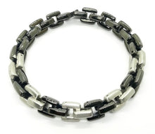 Load image into Gallery viewer, Men's Black Stainless Steel Link Bracelet
