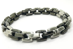 Men's Black Stainless Steel Link Bracelet