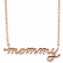 "Load image into Gallery viewer, Petite Mommy Script 16""-18"" Necklace"