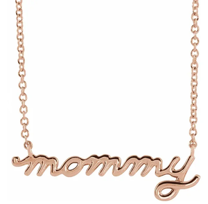 "Petite Mommy Script 16""-18"" Necklace"