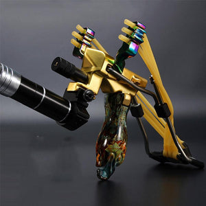 Fishing Slingshot Kit Archery Slingbow Hunting Fish Folding Professional Adjustable Shooting