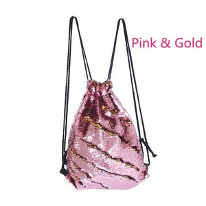 (Limited Sale: 40%off and Buy 2 Free Shipping)Drawstring Gym Sport Bag Large lightweight Sequins Sackpack Backpack
