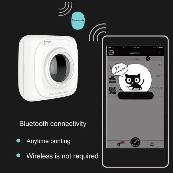 MINI Portable Thermal Printer Phone Wireless Connection BT 4.0 Photo Printer For Android/iOS