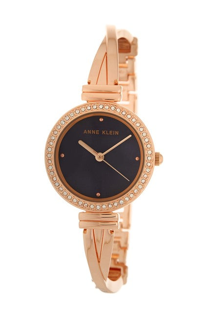 Women's Embellished Rose Gold Bangle Watch 30 MM