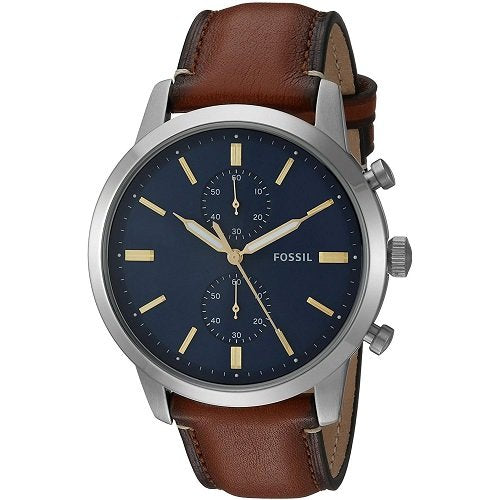 Men's Chronograph Townsman Light Brown Leather Strap Watch 44mm