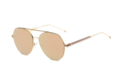 Unisex Classic Mirrored Aviator Fashion Sunglasses