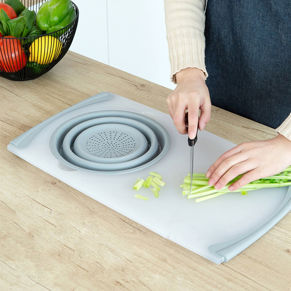 Kitchen Multi-functional Thick Plastic Chopping Board
