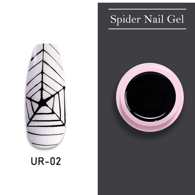 Luminous Spider Nail Gel Set - 6 nos Package