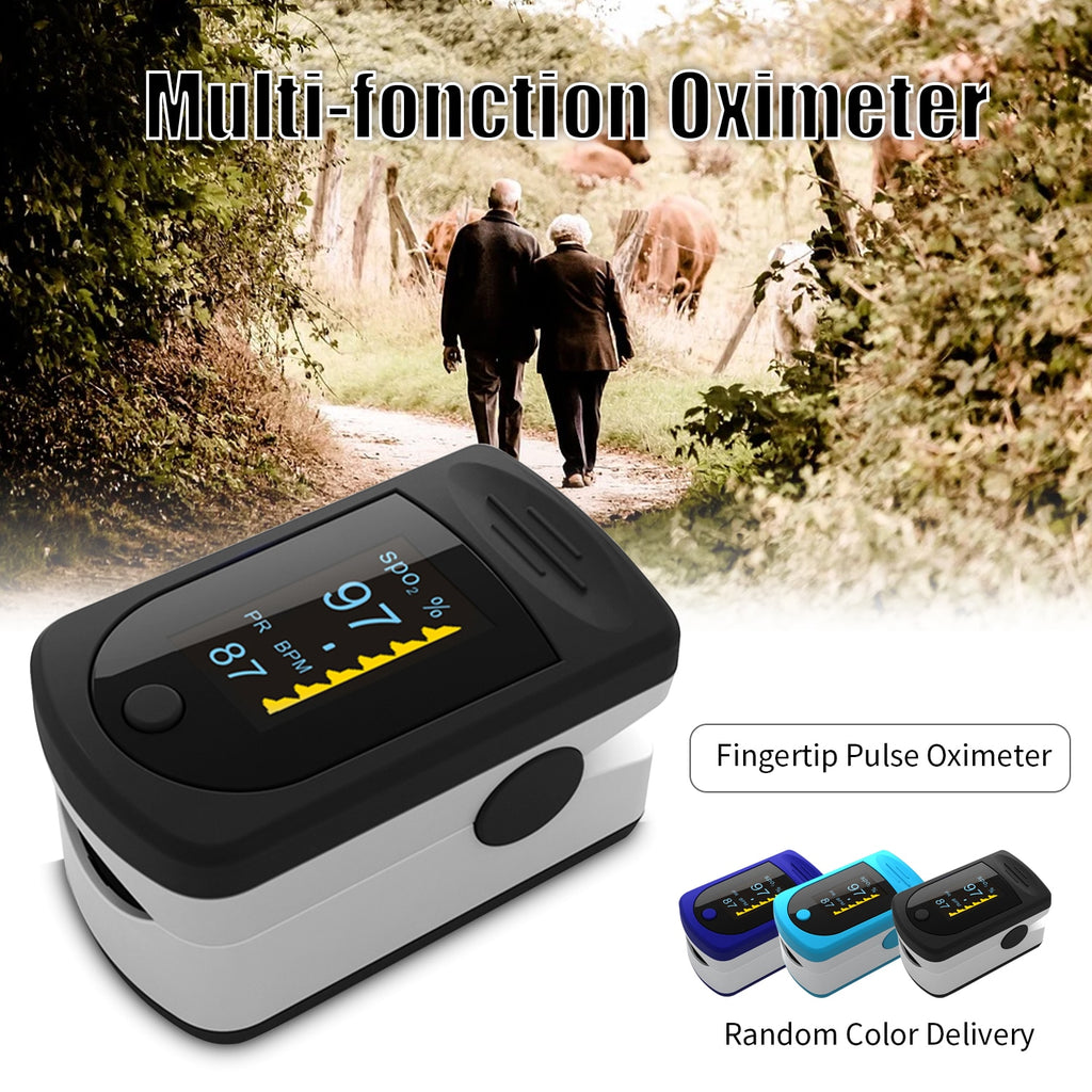Portable Blood Oxygen Monitor - Finger Pulse Oximeter