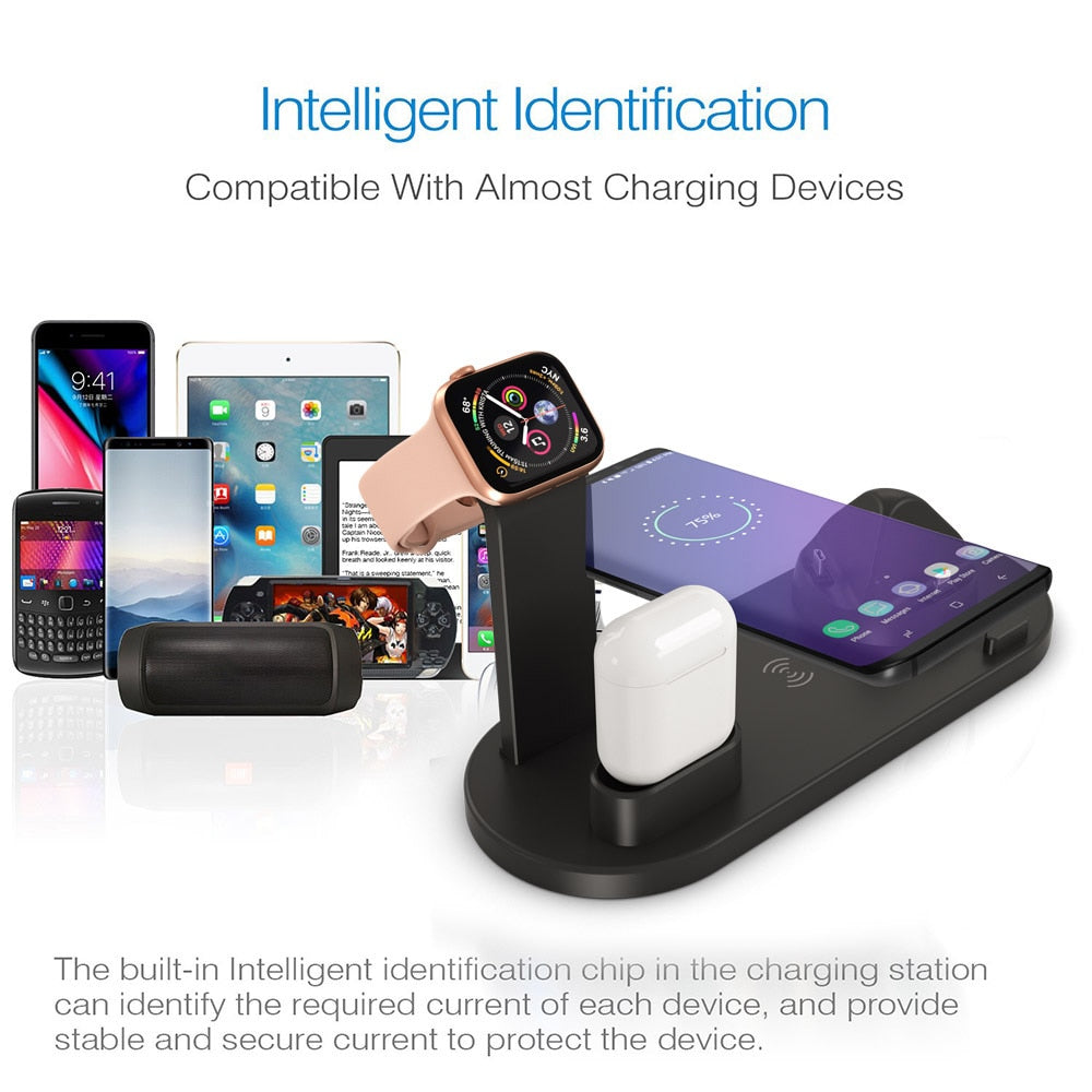 4 in 1 Wireless Charging Station for Your Apple