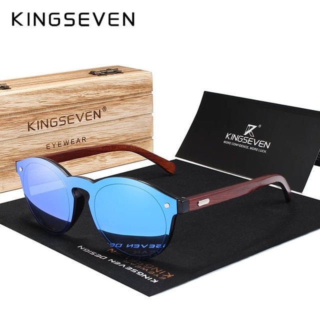 KINGSEVEN DESIGN 2020 Natural Handmade Wood Sunglasses Men Sun Glasses Women Brand Design Original Rosewood Glasses Oculo