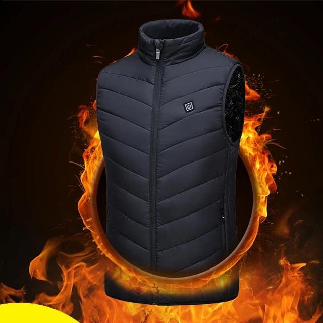 Waterproof & Lightweight Biker USB Heated Vest