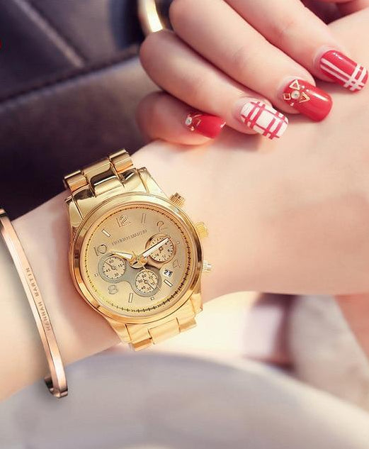 Rose Gold Luxury Wrist Watch for Women