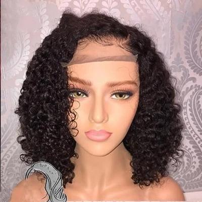 Front Lace Short Curly Wig | Human Hair