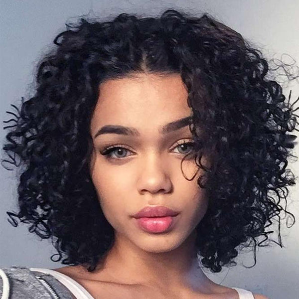 Curly Short Hair Human Wig Lace Fashion