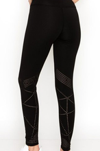 Load image into Gallery viewer, Laser Cut Active Legging - Black