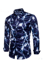 Load image into Gallery viewer, Flash Printed Men's Fashion Shirt - Long Sleeve