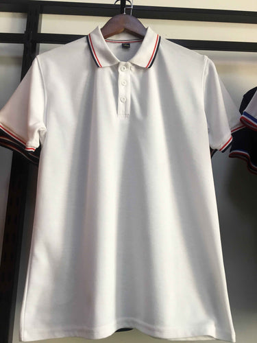 Short Sleeve Polo Shirt With Stripe on Collar - NEW !!