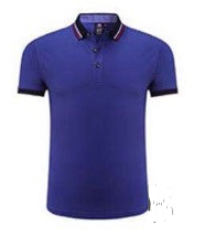 AT Short Sleeve Polo With Stripes on Collar and Sleeve