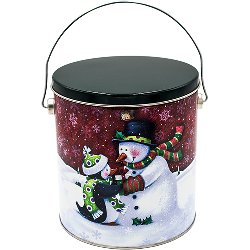Penguin's Present One Gallon Holiday Popcorn Tin