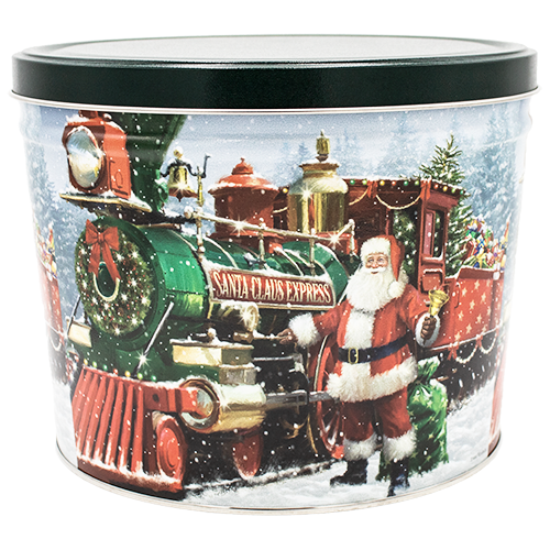 Santa Express Two Gallon Holiday Popcorn Tin
